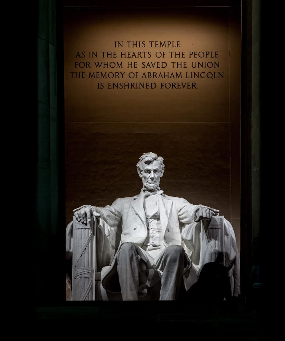Abraham Lincolm im Lincoln Memorial, Washington DC