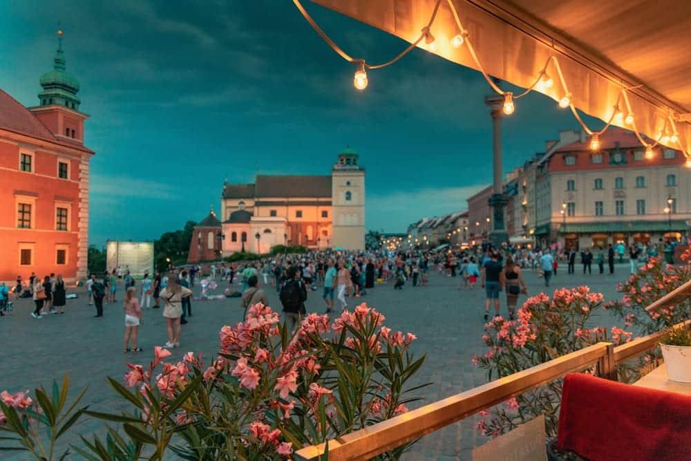 Warschau am Abend