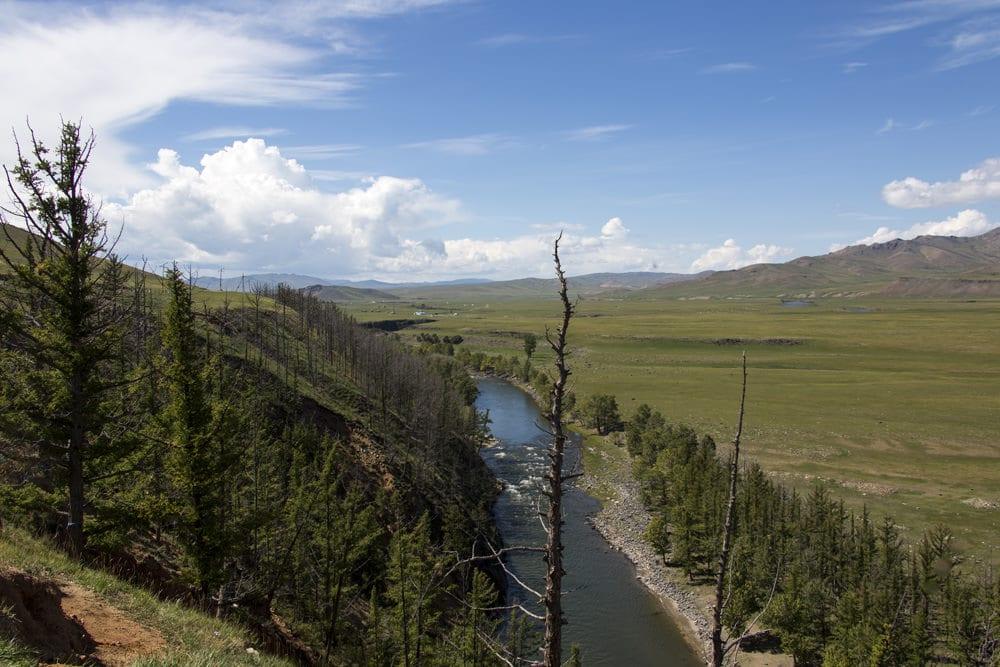"""Der Fluss """"Orchon"""" in der Mongolei"""