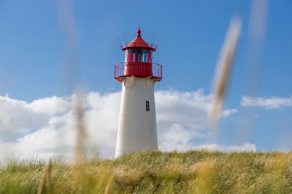 """Leuchtturm am """"Ellenbogen"""" von Sylt,"""