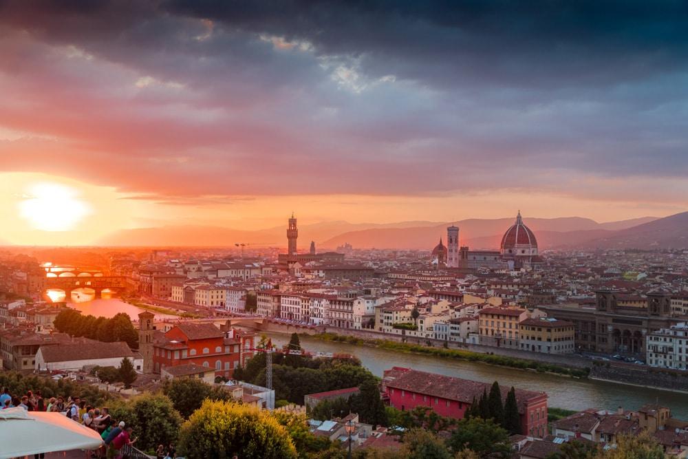 Sonnenuntergang in Florenz, Foto: Heidi Kaden / Unsplash
