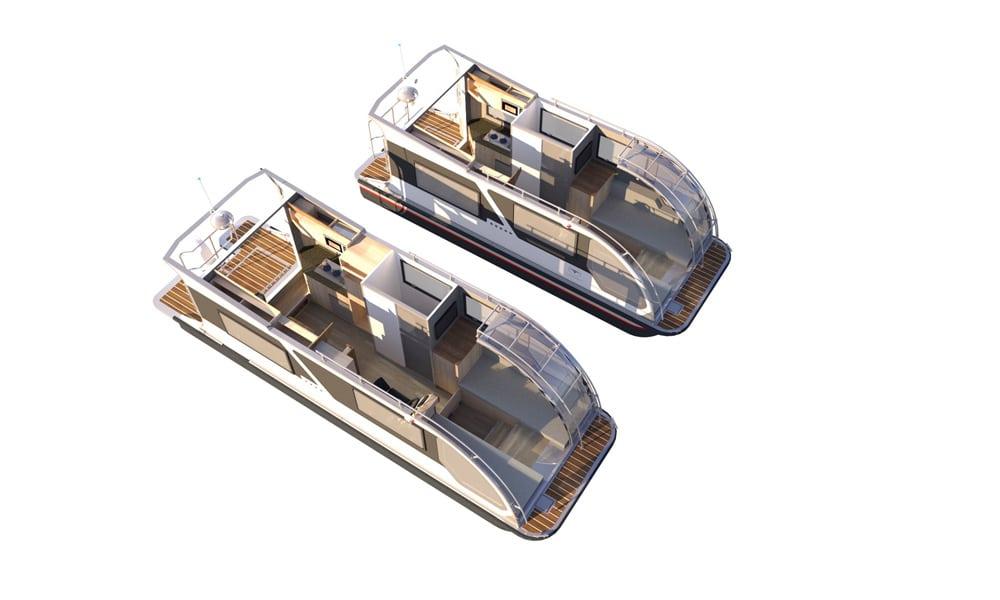 Modelle des Caravanboats, Foto: Tchibo GmbH
