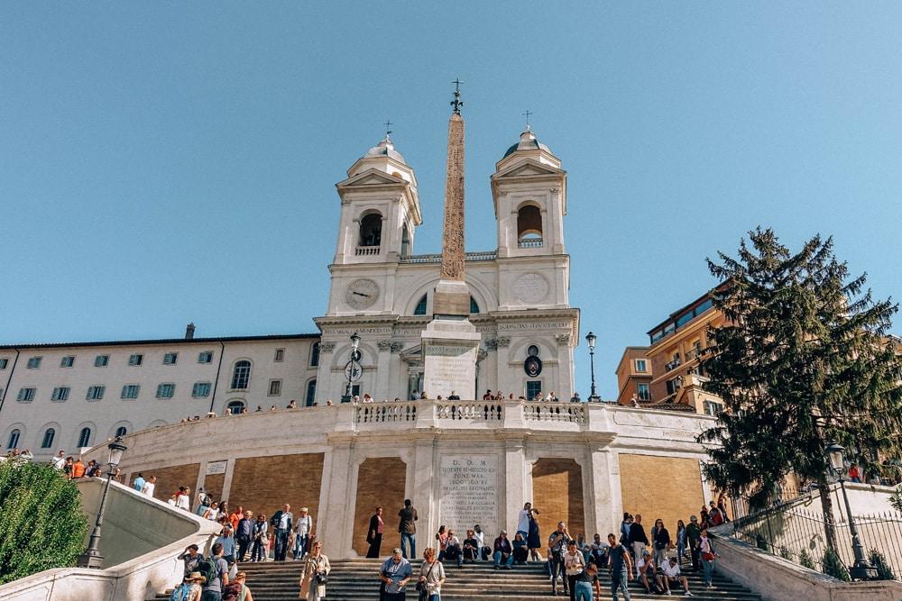 """Die """"Spanische Treppe"""" und Santa Trinita dei Monti, Foto: Daniela Hinz"""