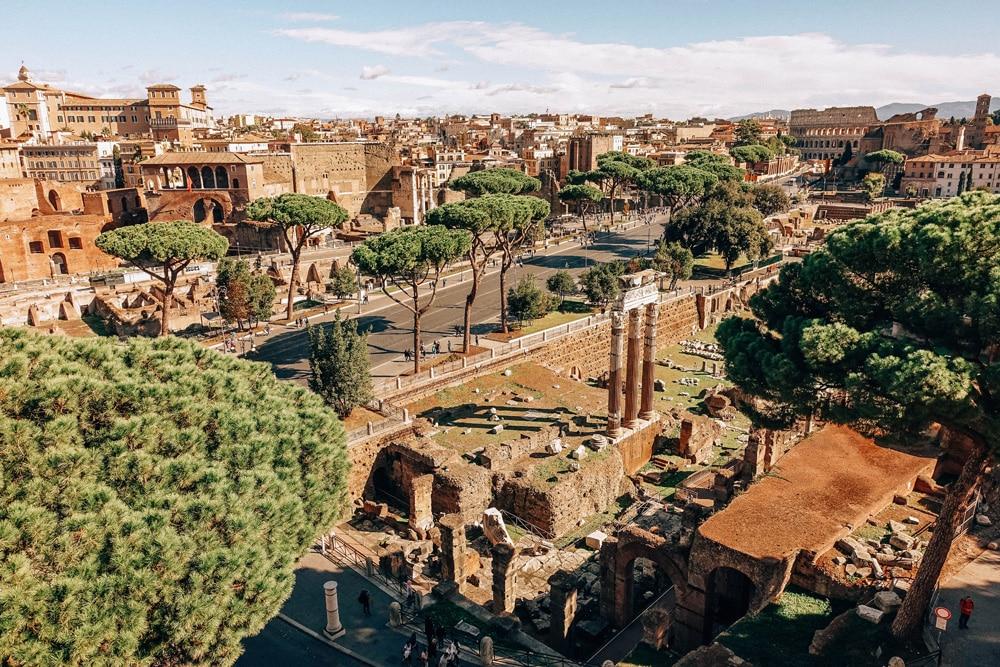 Blick auf das antike Zentrum von Rom, Foto: Daniela Hinz