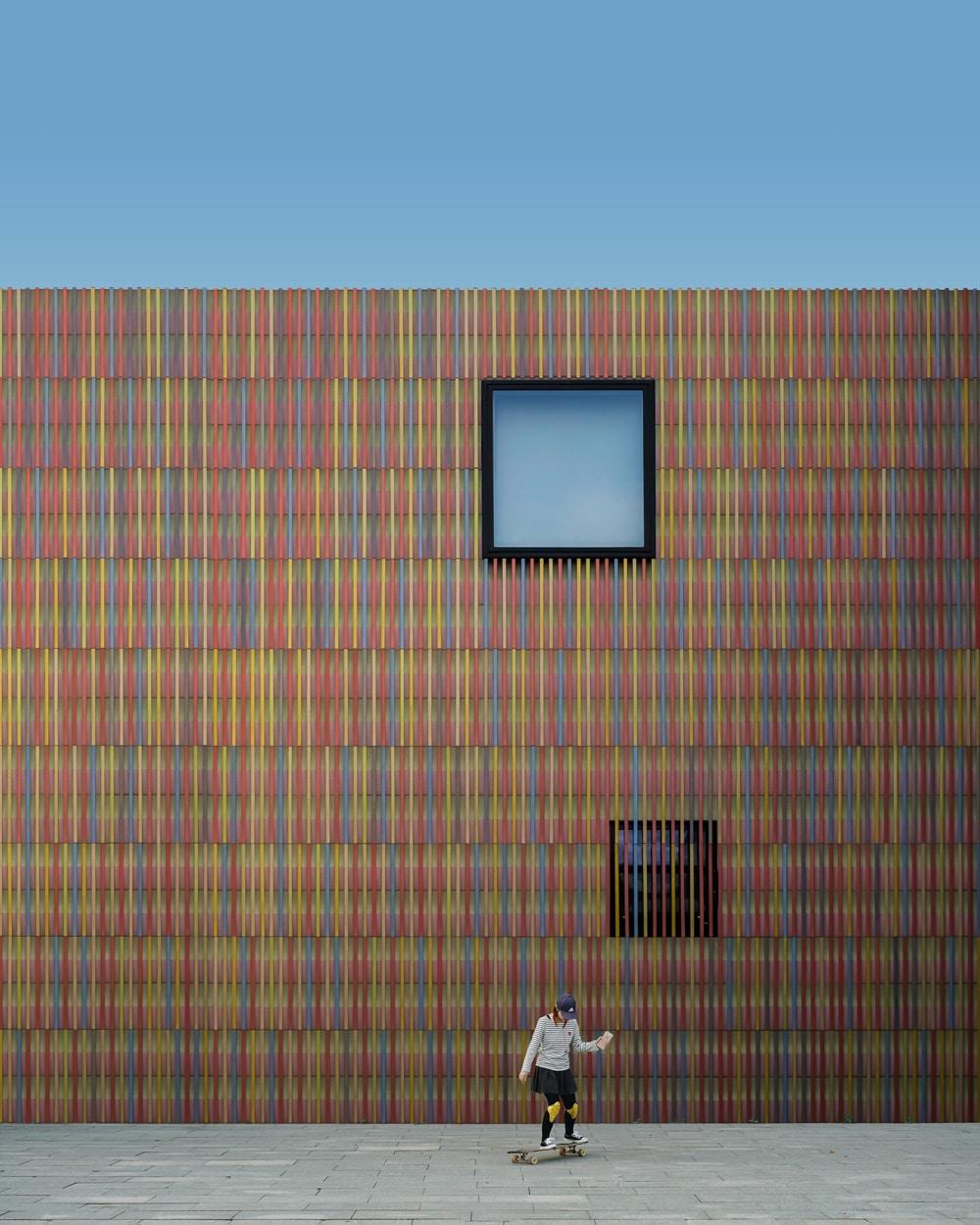 Fassade des Museums Brandhorst in der Theresienstraße in München, Foto: Victor Garcia / Unsplash