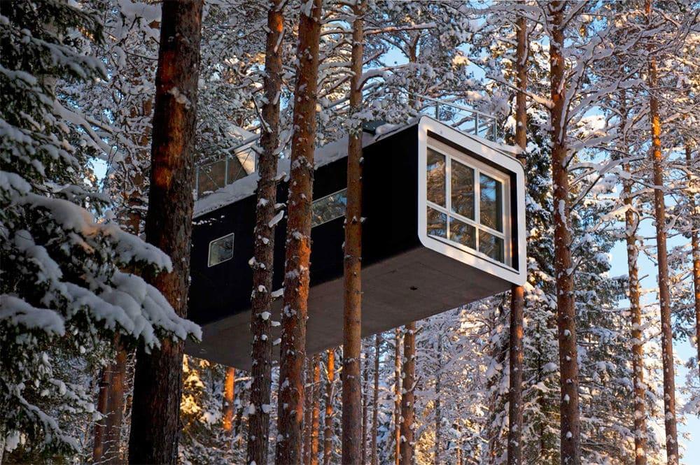 "Einfach den Ausblick genießen: ""The Cabin"": Foto: Treehotel"