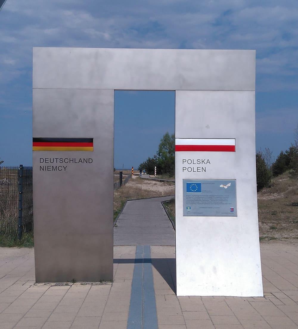 Ländergrenze zwischen Deutschland und Polen auf Usedom, Foto: Hilde Stockmann / Pixabay
