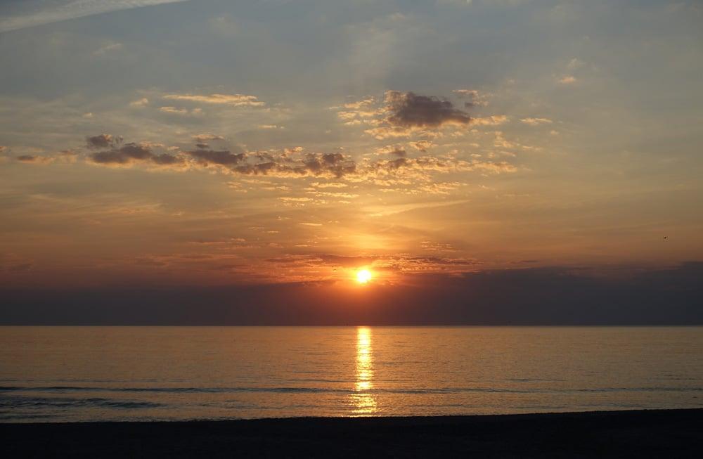 Sonnenuntergang am Strand von Henne, Foto: Daniela Hinz