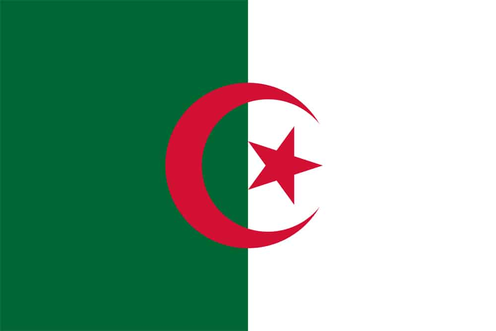Flagge von Algerien
