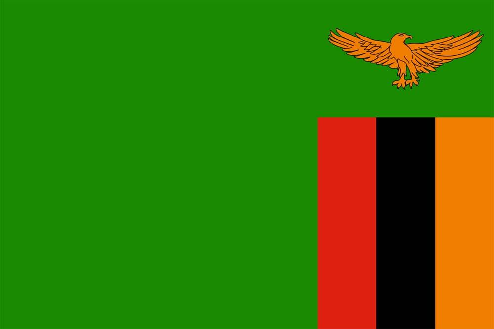 Flagge von Sambia